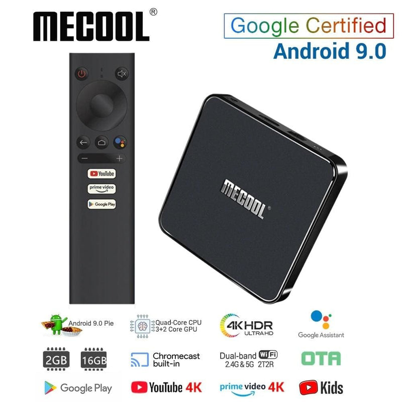 MECOOL KM1 Android 9.0 TV Box 4GB RAM 64GB ROM Amlogic S905X3 2.4G/5G WiFi 4K BT4.2 Voice Control Google Certified TV box
