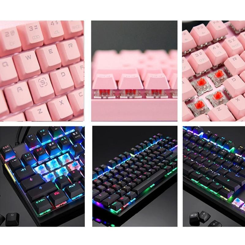 Motospeed K82 Gaming Mechanical  87 Key Keyboard with RGB LED Backlight USB Wired