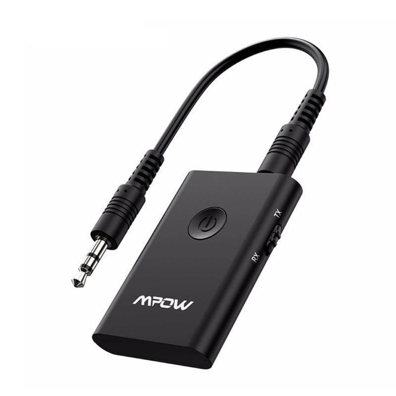 Mpow bh283 wireless receiver&transmitter 2 in 1 adapter bluetooth with aptx for car stereo music system/tv/headphones/speaker - on sale