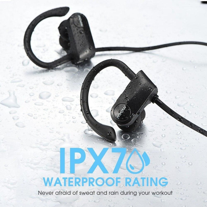 Mpow D7 2nd Version Bluetooth Wireless 4.1 Headphons IPX7 Waterproof Sport Earphones 10-12H Playing Time For iPhone Xs Xr Xiaomi