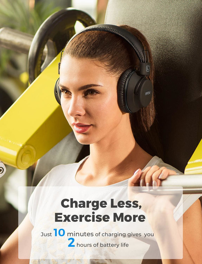 Mpow H1 Updated Bluetooth Wireless Headphones 20H Playtime Fast Charge Headset Lightweight Sports Earphone For iPhone 11 Xiaomi