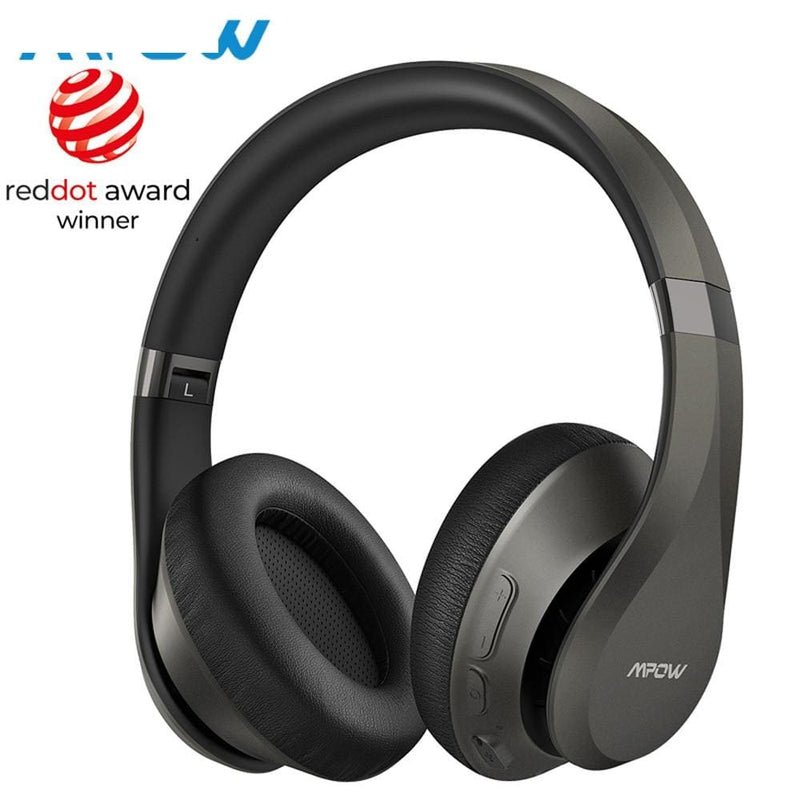 Mpow h20 059 updated version bluetooth 5.0 30h playing time hi-fi deep bass wireless headphones cvc 8.0 microphone for smarphones - on sale