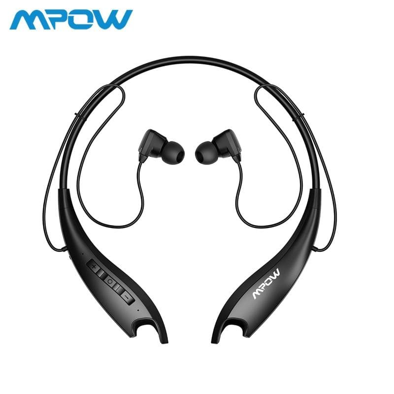 Mpow jaws gen 5th bluetooth 5.0 neckband headphones 18h playing time magnetic earbuds built-in mic for iphone xiaomi huwai sony - on sale