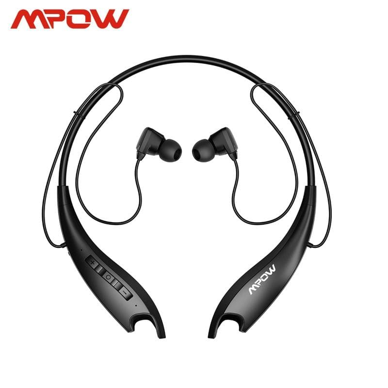 Mpow Jaws Gen 5th Bluetooth 5.0 Neckband Headphones 18h Playing Time Magnetic Earbuds Built-in Mic For iPhone Xiaomi Huwai SONY