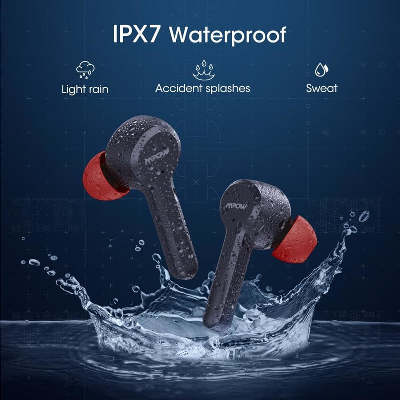 Mpow M9 30hrs Playtime iPX7 Waterproof Bluetooth 5.0 TWS Earphone Mono/Twin Mode In-Ear Earphone Touch Control For iPhone Xiaomi