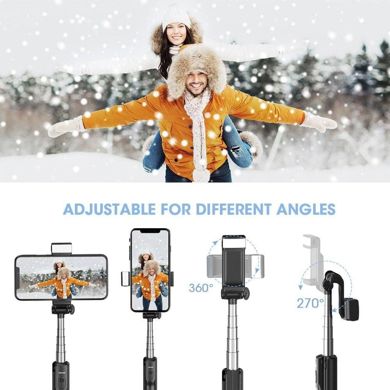 Mpow PA168 3 in 1 Selfie Sticks Tripod With Wireless Bluetooth Remote Control/Fill Light For iPhone Xs Xr Huawei Xiaomi Samsung