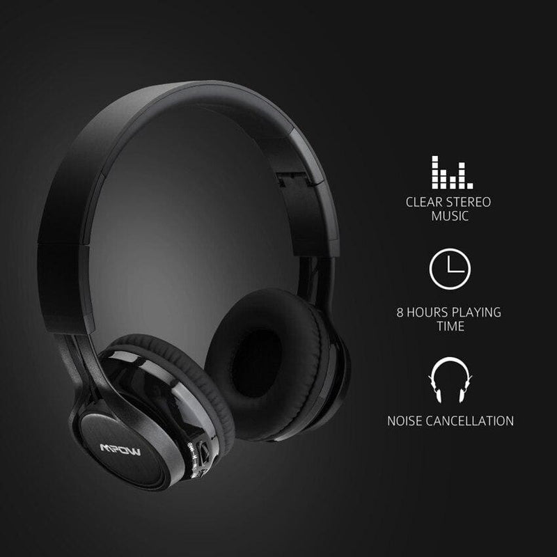 Mpow Thor Foldable Over-Head Wireless Bluetooth 4.1 Headphones With Carrying Case 8h Playing Time For iPhone Xiaomi Android SONY