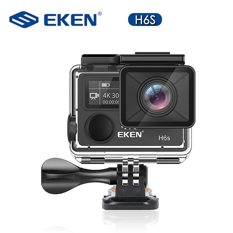 Original EKEN H6S Ultra HD Action Camera with Ambarella A12 chip 4k/30fps 1080p/60fps EIS 30M Waterproof Sport Camera