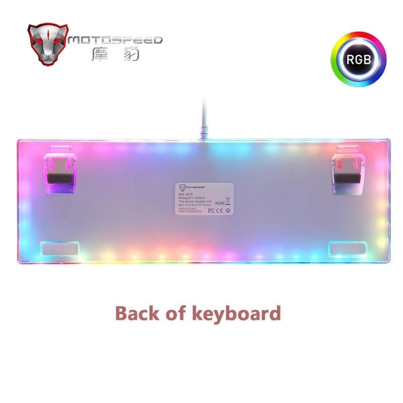 Original Motospeed K87S 87 Keys Gaming Mechanical Keyboard USB Wired with RGB Backlight Red/Blue Switch
