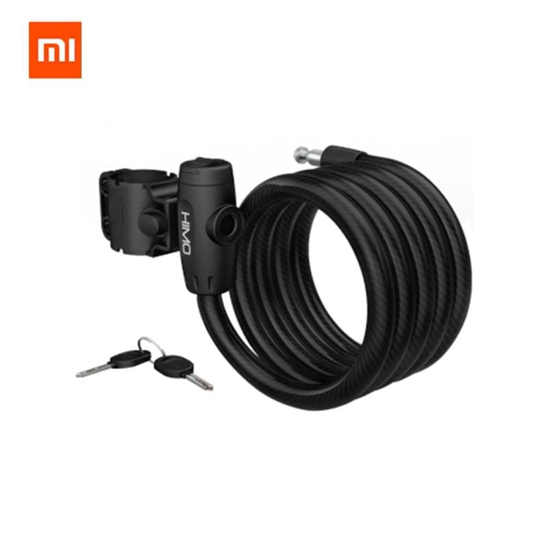 Original xiaomi mijia himo l150 portable folding cable lock electric bicycle lockstitch from xiaomi youpin xiaomi smart home kit - on sale