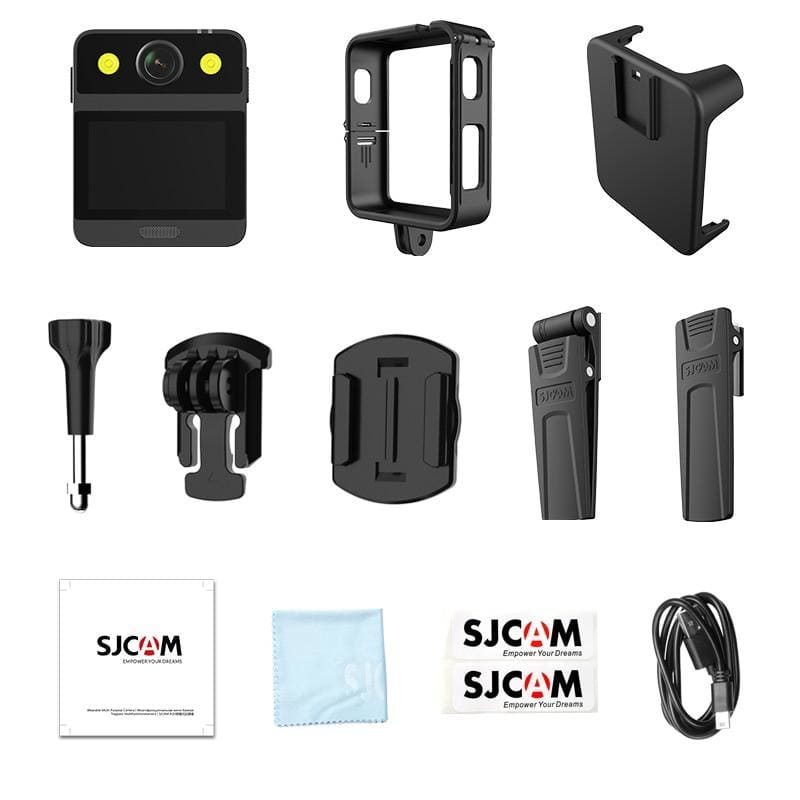 SJCAM A20 Portable Body Camera Waterproof Wearable Infrared Security Camera With LED Lamp Motion detection Action Camera