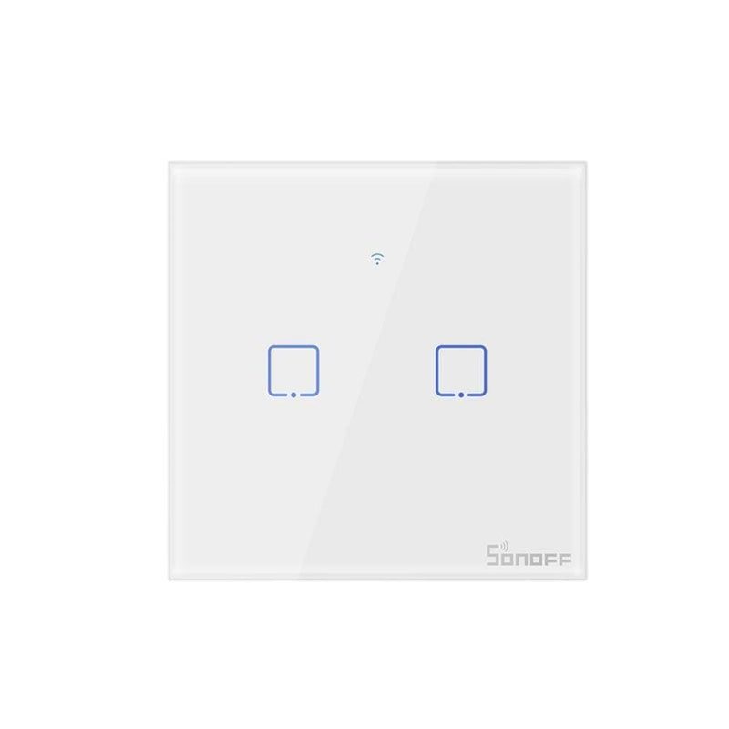 Sonoff New T1EU Wifi Smart Switch Touch Screen Remote ON/OFF 1/2/3 Gang 433Mhz RF/Voice/APP/Touch Control 86 Type Smart Home TX