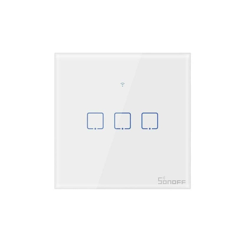 Sonoff new t1eu wifi smart switch touch screen remote on/off 1/2/3 gang 433mhz rf/voice/app/touch control 86 type smart home tx - on sale