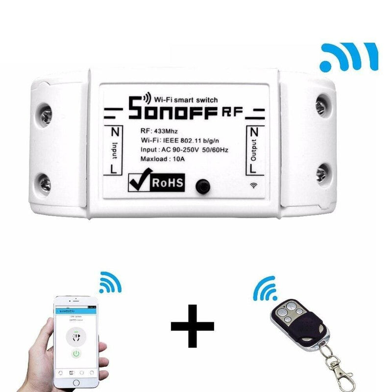 Sonoff RF WiFi Smart Switch Interruptor 433Mhz RF Receiver Intelligent Remote Wireless Control For Smart Home Wi-fi Light Switch