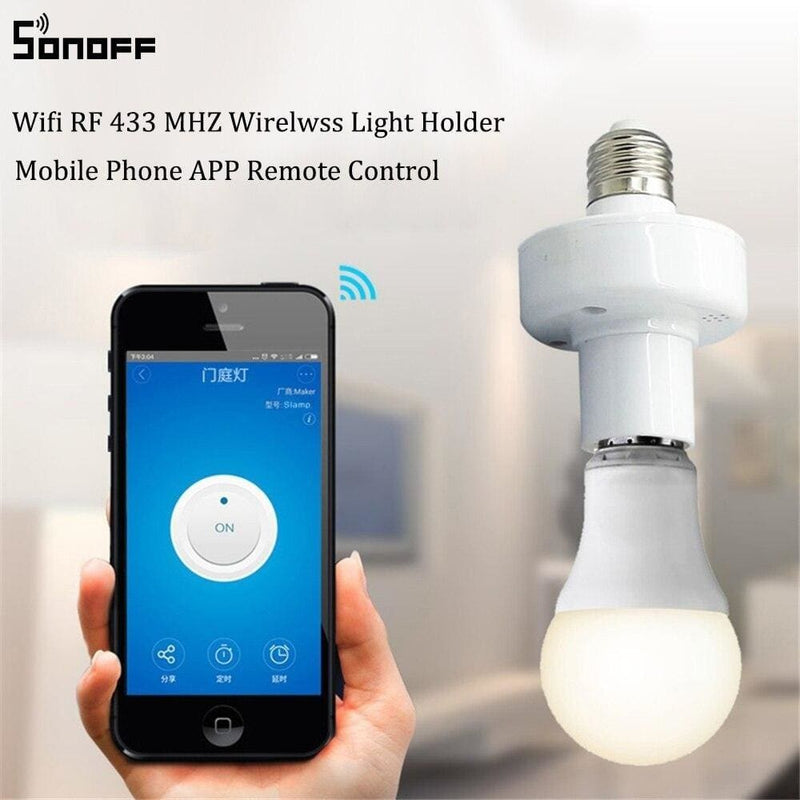 Sonoff Slampher RF 433MHz Wireless Control Light Holder E27 Universal WiFi Light Lamp Bulbs Holder Smart Home Switch IOS Android