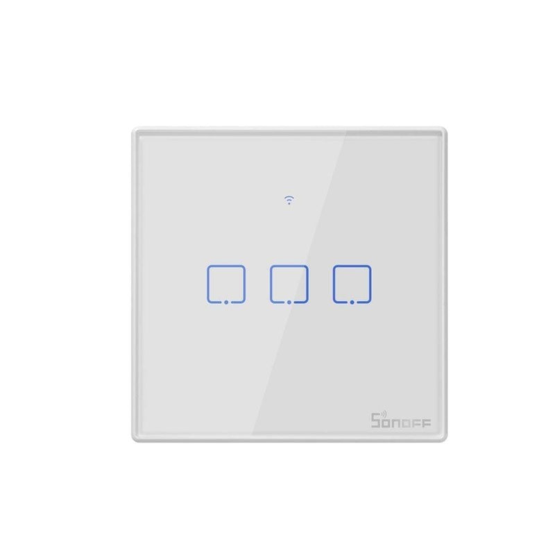 Sonoff T2 EU TX Smart Wifi Wall Touch Switch With Border Smart Home 1/2/3 Gang 433 RF/Voice/APP/Touch Control Work With Alexa