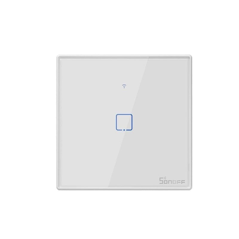 Sonoff t2 eu tx smart wifi wall touch switch with border smart home 1/2/3 gang 433 rf/voice/app/touch control work with alexa - on sale