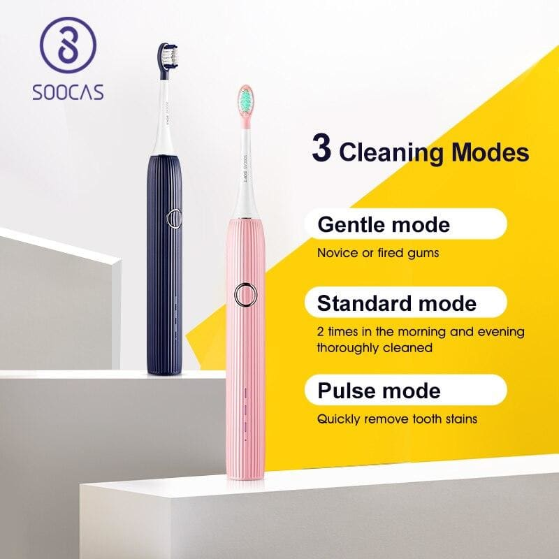 SOOCAS V1 Electric Toothbrush Sonic Ultrasonic Automatic ToothBrush Type-c Rechargeable Waterproof Tooth Brush Adult Tooth Clean