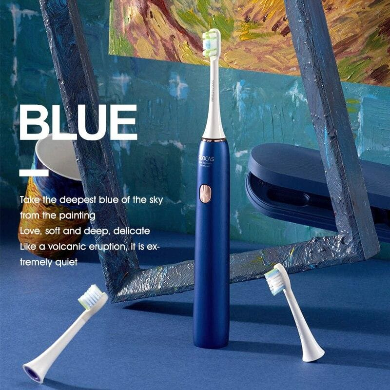 SOOCAS X3U Sonic Electric Toothbrush Adult Rechargeable Toothbrush IPX7 Waterproof Automatic Ultrasonic Tooth Brush Van Gogh
