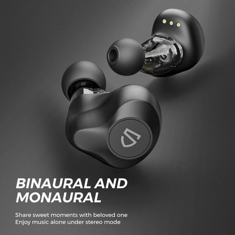 SOUNDPEATS TrueEngine SE Dual Dynamic Drivers Wireless Earbuds Bluetooth 5.0 APTX Audio CVC Noise Cancellation 27Hrs Play Time Earphones