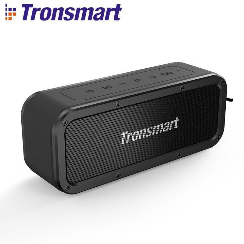 Tronsmart force bluetooth speaker bluetooth 5.0 portable speaker ipx7 waterproof 40w speakers 15h playtime with voice assistant - on sale