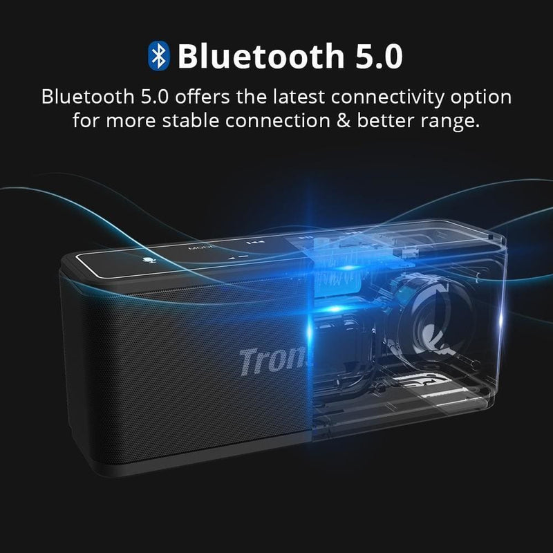 Tronsmart mega bluetooth 5.0 speaker portable speaker 40w colums touch control soundbar support voice assistant,nfc,tws,microsd - on sale