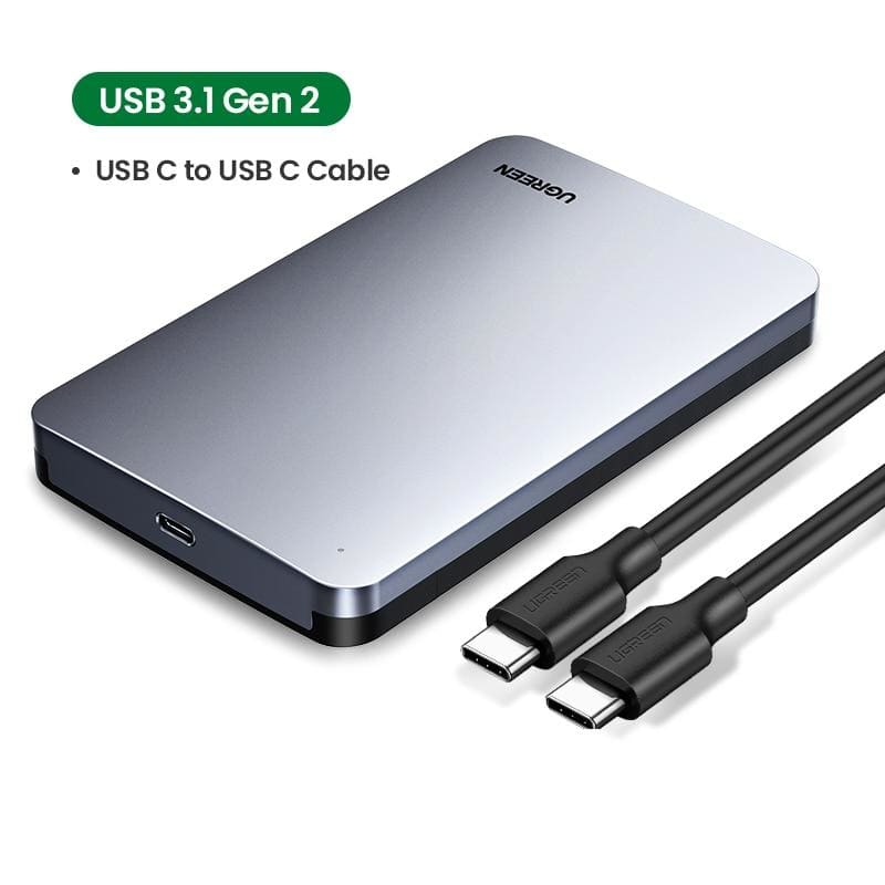 Ugreen hdd case 2.5 6gbps sata to usb c 3.1 gen 2 external hard drive box aluminum case hd for sata hard disk ssd hdd enclosure - on sale