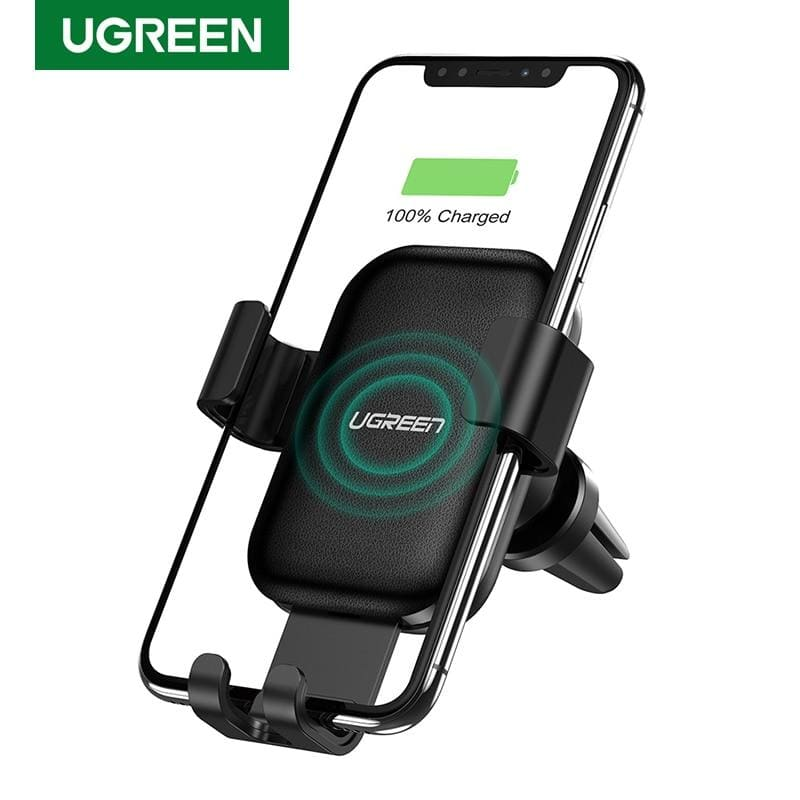 Ugreen Wireless Car Charger for iPhone 11 Pro XS X 8 Fasr Wireless Charging for Samsung S9 S10 Xiaomi mi 9 Qi Wireless Charger