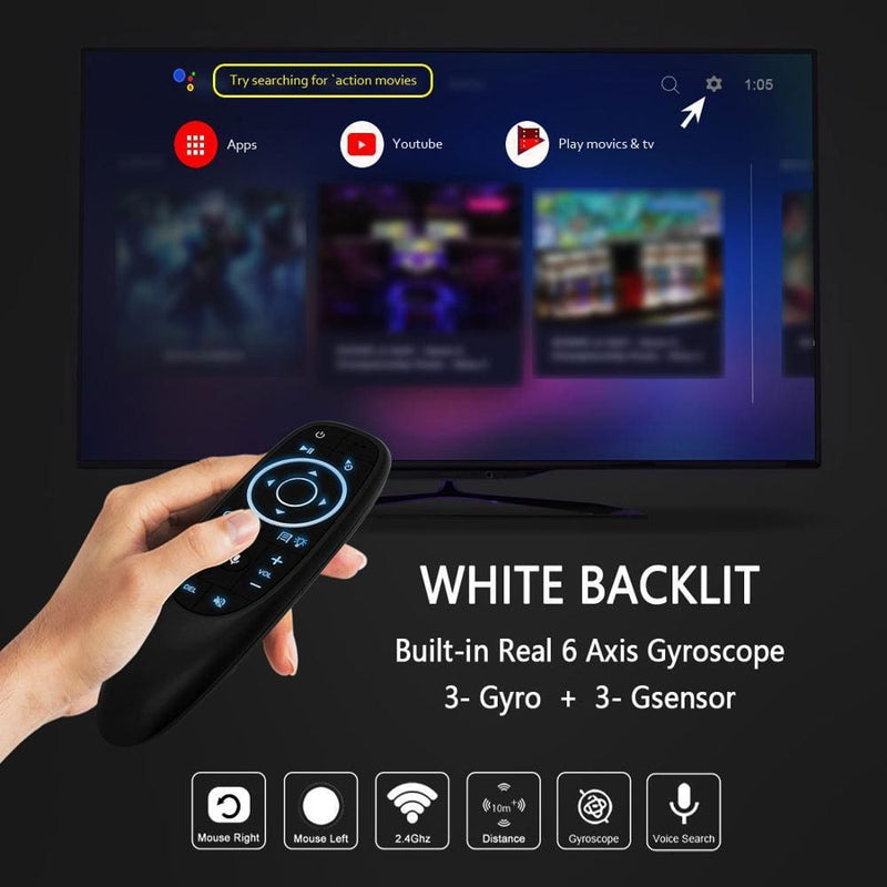 Vontar g10 g10s pro voice remote control 2.4g wireless air mouse gyroscope ir learning for android tv box hk1 h96 max x96 mini - on sale