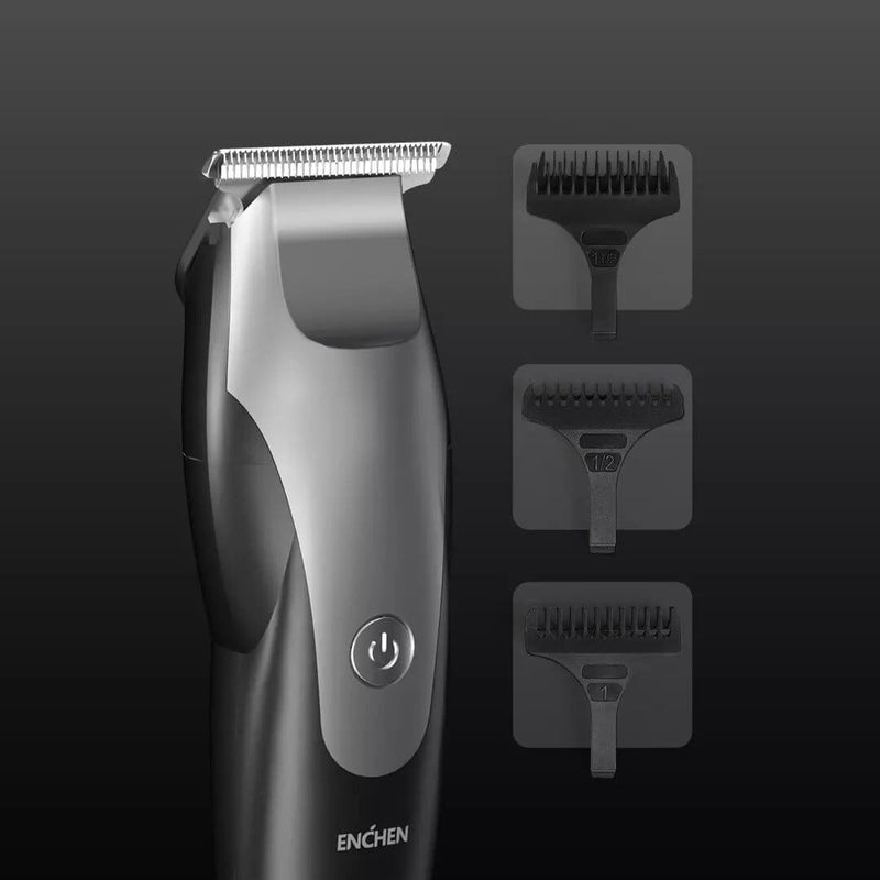 XIAOMI ENCHEN Hummingbird electric hair clipper usb charging with low noise hair trimmer with 3 hair brushes black