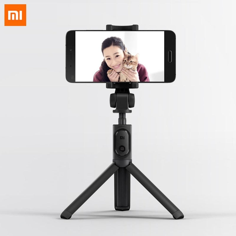 Xiaomi Foldable Tripod Monopod Selfie Stick Bluetooth With Wireless Button Shutter Selfie Stick For iOS/Android/Xiaomi (Black)