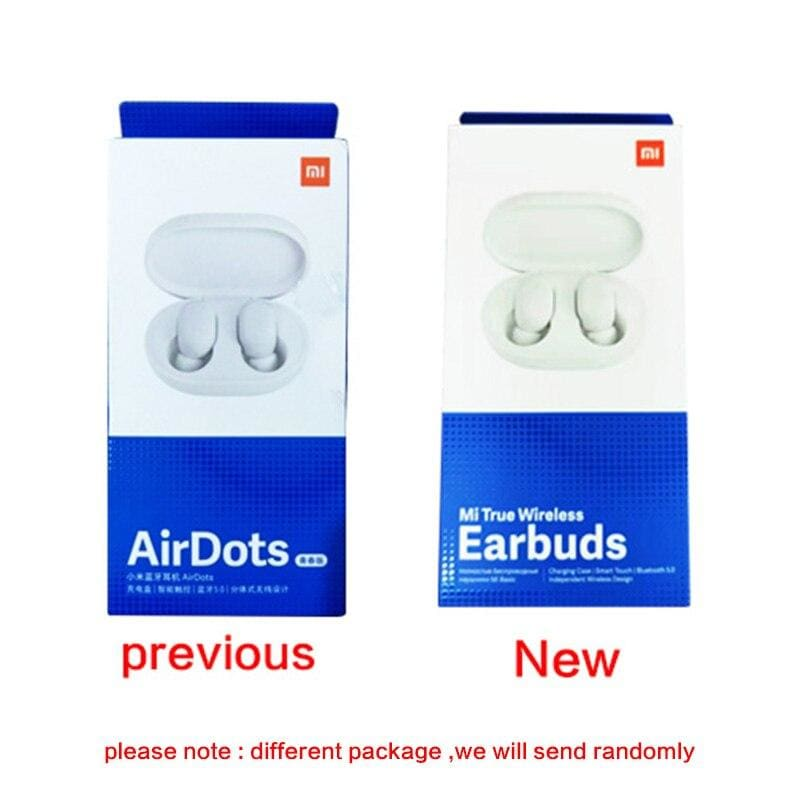 Xiaomi mi AirDots TWS Bluetooth Earphones Wireless In-ear Earbuds Earphone Headset with Mic and Charging Dock Box Youth Version (Xiaomi airdots)