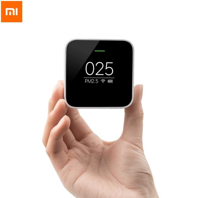 Xiaomi mi pm2.5 detector know your air anytime anywhere helps track real time air quality clock mode cute portable - on sale