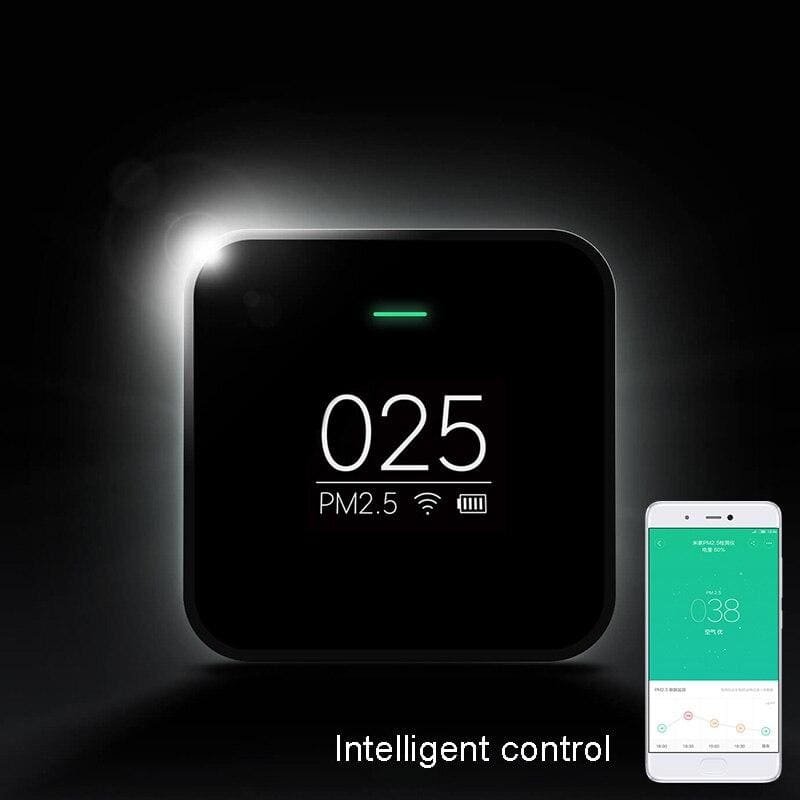 Xiaomi Mi PM2.5 Detector Know Your Air Anytime Anywhere Helps Track Real Time Air Quality Clock Mode Cute Portable