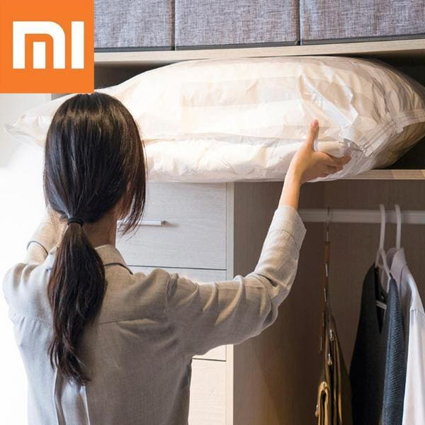 Xiaomi Mijia 5/1 Vacuum smart Bag Folding Scan QR Code Storage smart Bag Sealed Clothes Compression Organizer Pouch to Phone App