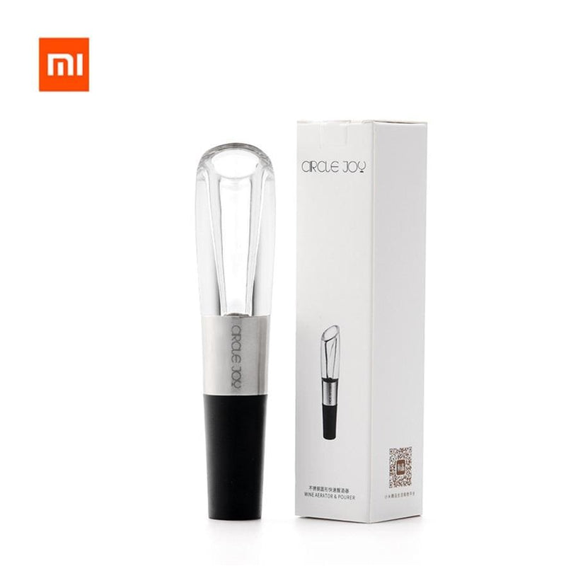 Xiaomi mijia circle joy electric bottle opener stainless steel mini wine stopper wine decanter aerator for xiaomi smart home - on sale