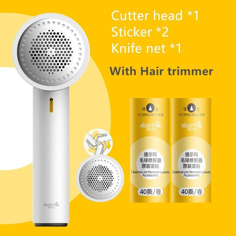 Xiaomi mijia deerma clothes sticky hair multi-function trimmer usb charging fast removal ball (usb charging version) - on sale