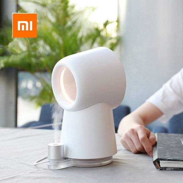 Xiaomi mijia HL Happy Life 3 in 1 Mini Cooling Fan Bladeless Desktop Fan Mist Humidifier w/ LED Light (White)