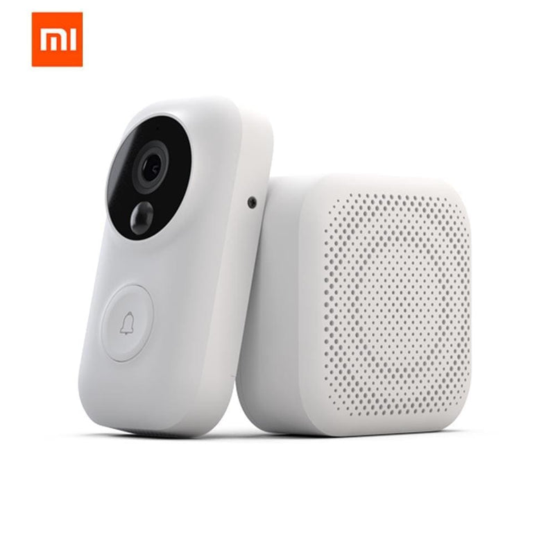 Xiaomi zero ai face identification 720p ir night vision video doorbell set motion detection sms push intercom free cloud storage - on sale