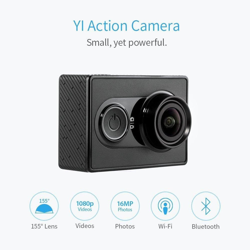 Yi 88007 action camera with selfie stick and bluetooth remote (white) - ₹9,499