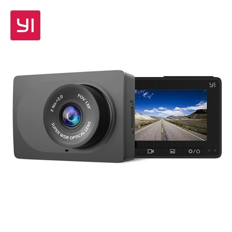 Yi compact dash camera 1080p full hd car dashboard camera with 2.7 inch lcd screen 130 wdr lens g-sensor night vision black - on sale