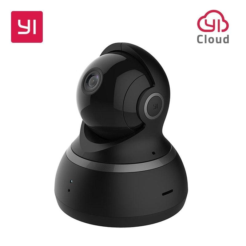 YI Dome Camera 1080P Pan/Tilt/Zoom Wireless IP Security Surveillance System Complete 360 Degree Coverage Night Vision Black White