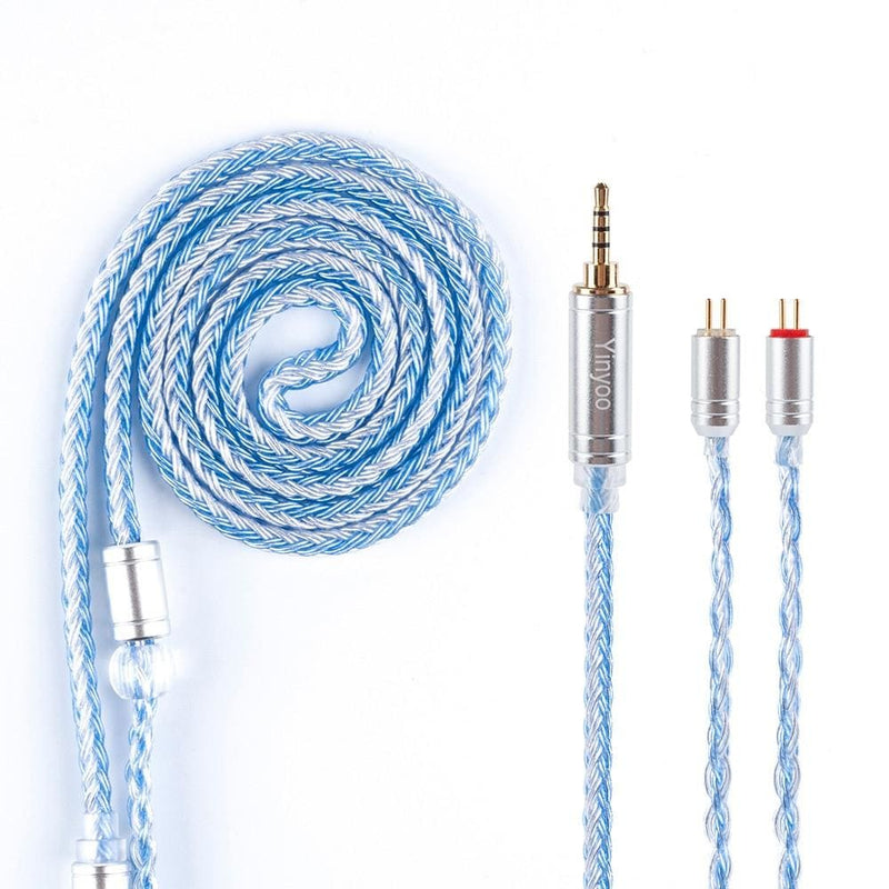 Yinyoo 16 Core Silver Plated Cable 2.5/3.5/4.4mm Balanced Earphone Upgrade Cable With MMCX/2Pin for ZS10 PRO AS16 ZSX C12