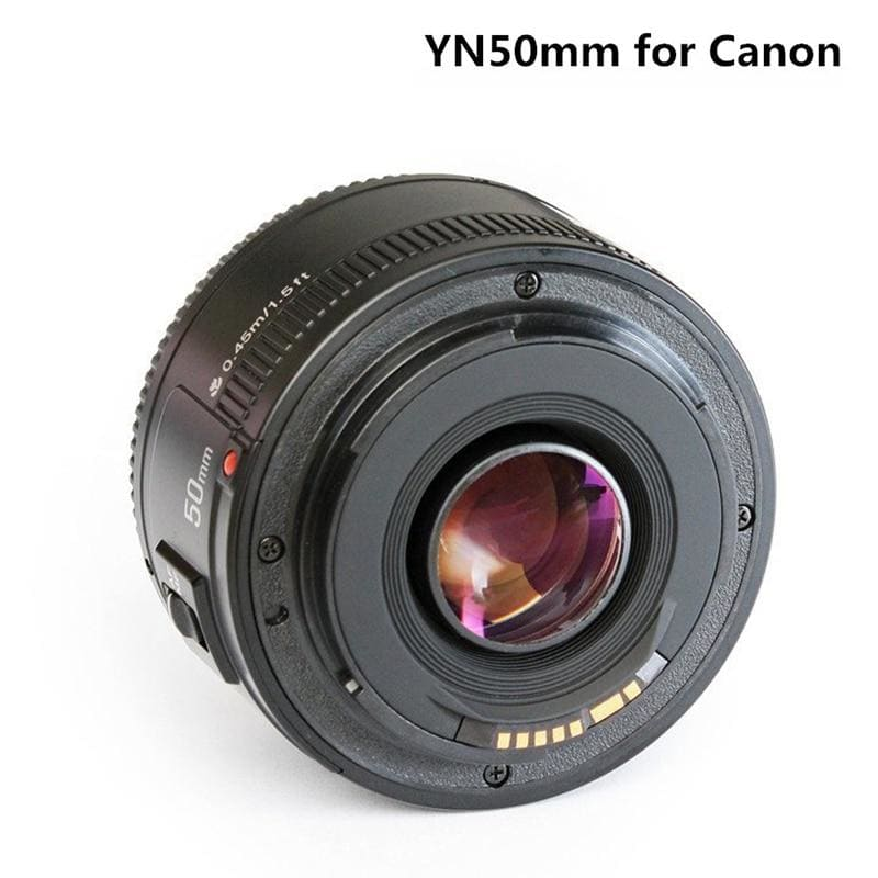 YONGNUO YN50mm F1.8 Camera Lens for Nikon F Canon EOS Auto Focus Large Aperture Lense for DSLR Camera D800 D300 D700 D3200 D3300