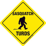 Sasquatch Turds Logo Sticker
