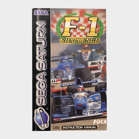 F1 Formula 1 Challenge Game Manual Sega Saturn | SP Australia
