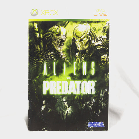 Alien Vs Predator Xbox 360 Game Manual