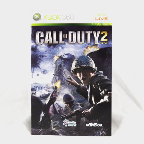Call Of Duty 2 Xbox 360 Game Manual