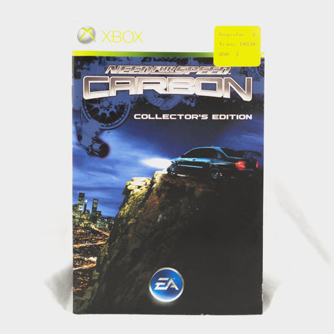 Need For Speed Carbon - Collectors Edition Xbox 360 Game Manual
