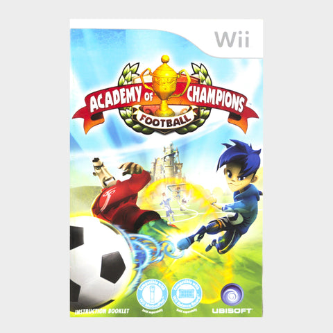 Academy Of Champions Football Wii Game Manual